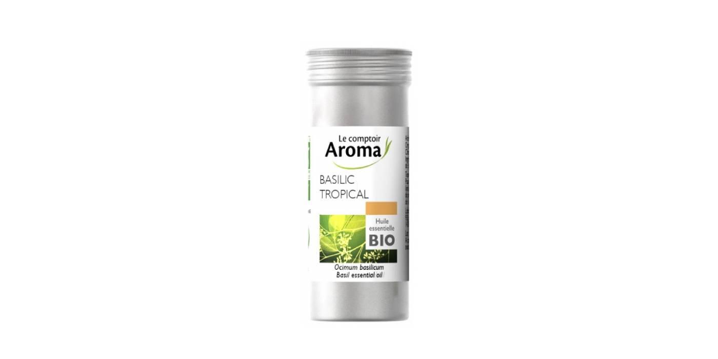 Huile Essentielle de basilic tropical de Le Comptoir Aroma